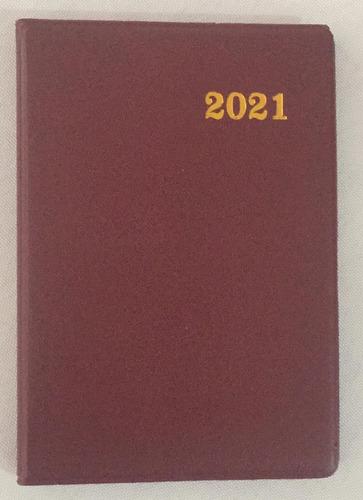 Imagen 1 de 1 de Agenda 2021 Borra De Vino Tamaño Bolsillo