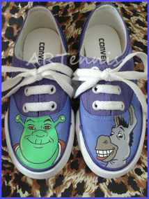 Tênis Allstar Converse Tema Shrek