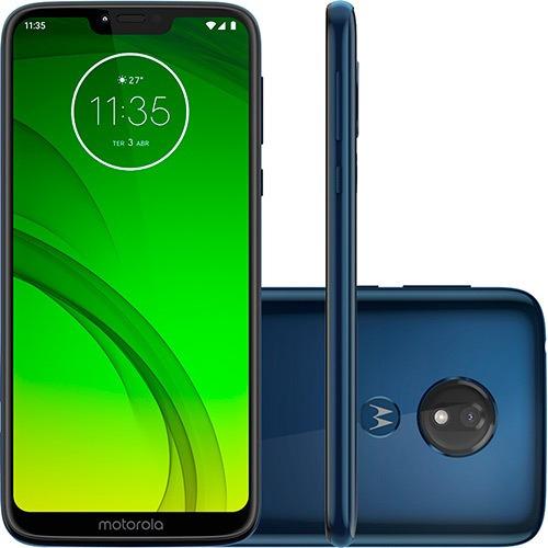 Motorola Moto G7 Power 64gb - Azul Navy - Produto Usado!