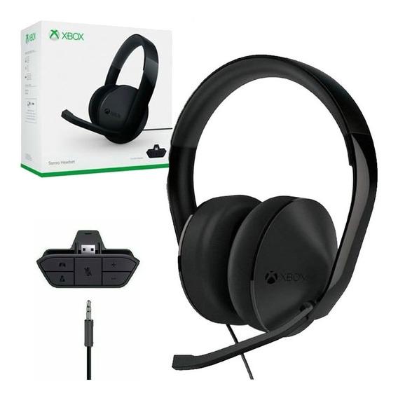 Fone Headset Xbox One Stereo Microsoft Com Adaptador Lacrado