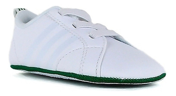 Original adidas Neo Vs Advantage Cuna Baby White & Green Mis Tenisshop