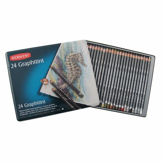 Lápices De Colores Graphitint-acuarelables Derwent X 24 Uni