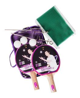 Set Ping Pong Sensei 2paletas 3pelotas 1red P/principiantes