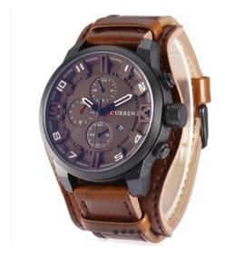 Relógios Curren 8225 Social Luxo Couro Com Caixa Promoção