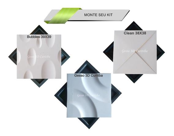 Moldes Gesso 3d Cimentício Plástico Abs 2mm - Kit 3 Modelos