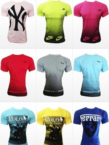 Kit Com 10 Camisetas Multimarcas Masculinas Plus Size