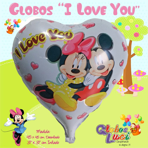 Globos Metalicos Minnie Y Mickey Variados