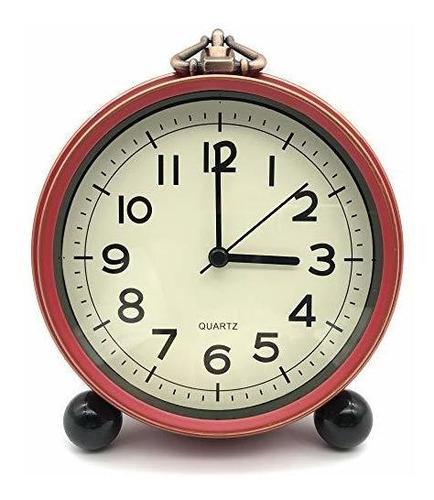 Creult Reloj Despertador Retro Simple Pequeños Relojes Para