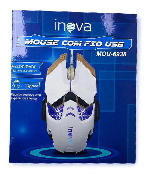 Kit 5 Mouse Gamer Profissional Com Fio Usb 3200dpi Atacado
