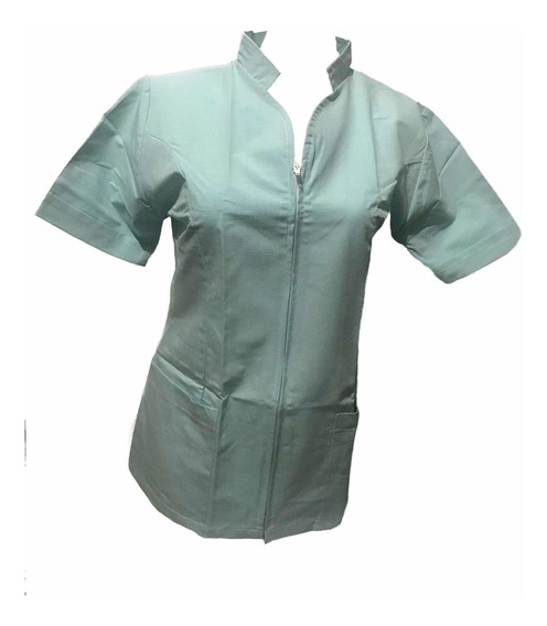 Filipina Dama Cierre Estampados Médicos Y/o Colores Sólidos