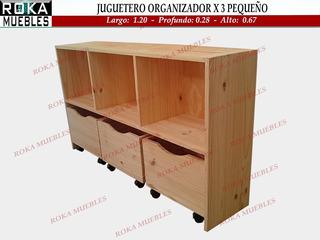 Juguetero Baul Organizador Biblioteca Estante Cubox3 Pequeño