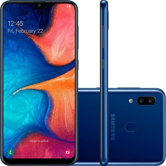 Smartphone Samsung Galaxy A20 6.4 3gb Azul - A205g