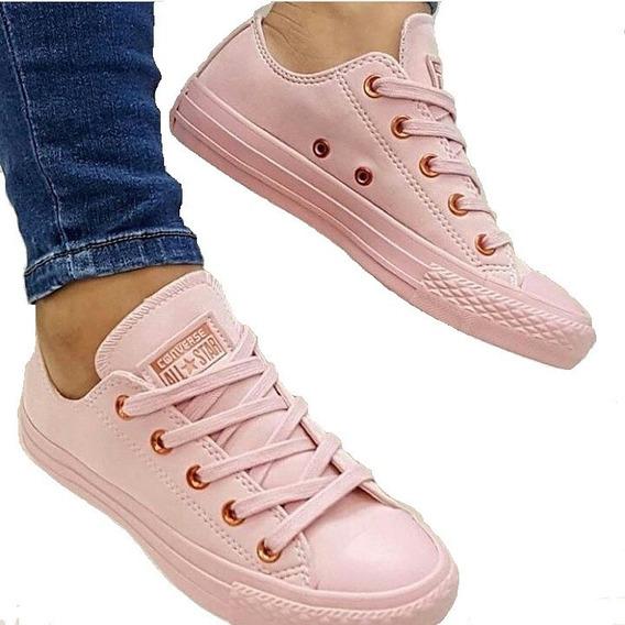 Tennis Zapatillas Mujer Converse Rosada Dama Cuero