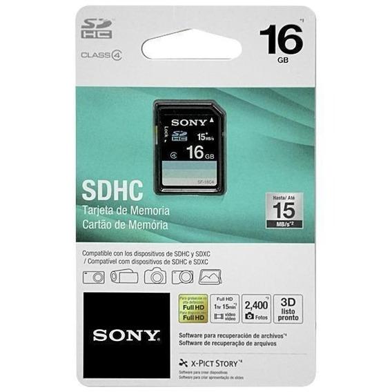 Cartão De Memória Sdhc Sony Classe 4 15mb/s 16gb
