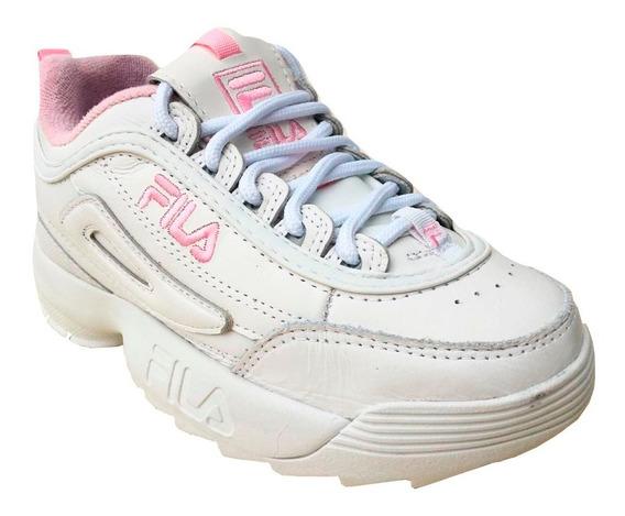 Zapatillas De Mujer Disruptor Blanco Rosa Bebe Liquidamos