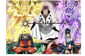 Naruto Shippudem (naruto, Sasuke E Rokudo Sennin)
