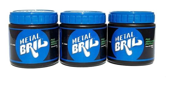 3pzas Pasta Pulidora Metal Bril Plata Y Otros Envío Gratis
