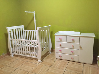 Vendo Mueble Cuna Y Comoda Color Blanco