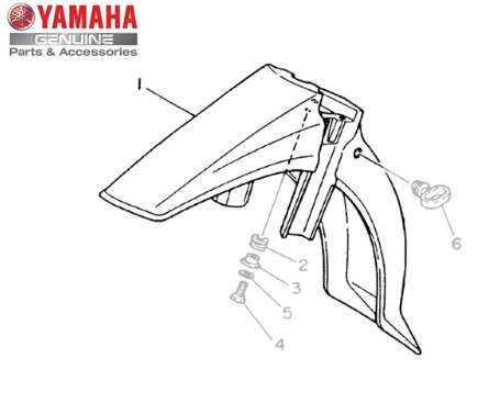 Para-lama Dianteiro Preto Yamaha Crypton 02/04 Original