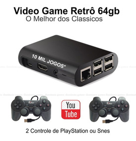 Video Game 64gb De Memoria 2 Controles + Multimídia Brinde