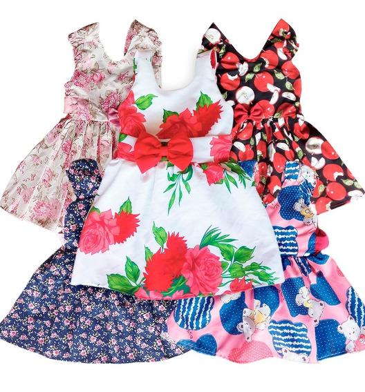 Vestido Infantil - Kit Com 5 Vestidos Promoção Atacado.