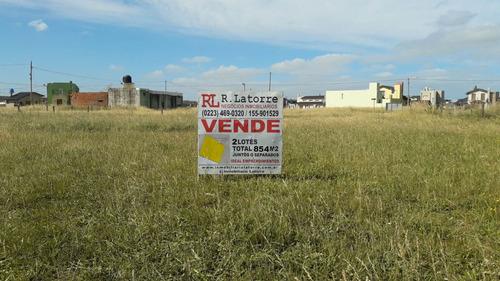 Imagen 1 de 10 de Latorre Prop. Vende 2 Lotes Juntos A 100 Metros Del Mar,  B° Camet Norte -santa Clara Del Mar