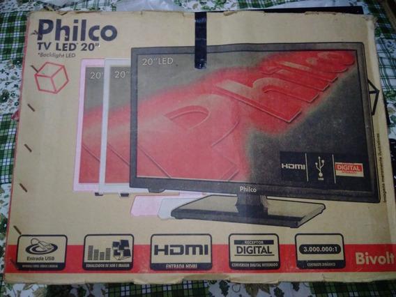 Tv Led 20 Philco Ph20u21 D Hd 2 Hdmi 1 Usb 60hz À Retirar