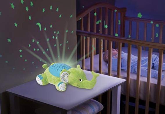 Projetor De Luz Estrelinha E Som Bebe Dormir - Elefante