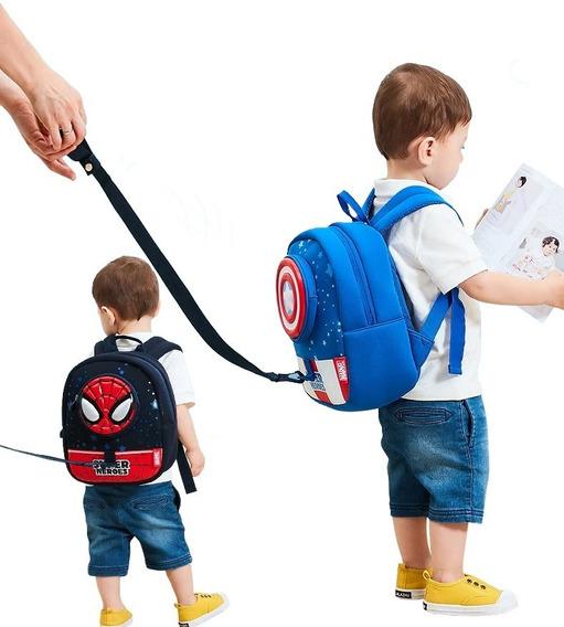 Mochila 3d Bolsa Infantil Bebê Escolar Passeio Vingadores