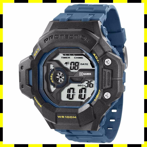 Relógio Masculino Azul Digital Xmppd300-bxax X-games