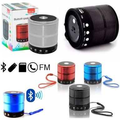 Kit,com,6,mini Caixa De Som Portátil Speaker Ws-887
