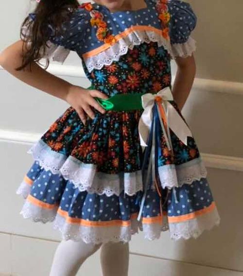 Vestido Festa Junina Luxo Tam 6 Usado Uma Única Vez