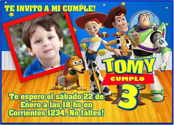 Kit Imprimible Toy Story Candy Bar Invitaciones Cotillón