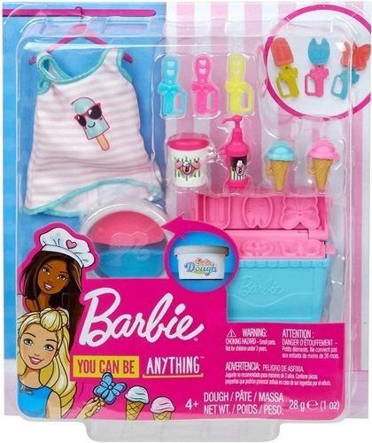 Imagem 1 de 5 de Pacote Acessórios Barbie Cozinhar E Assar Tema Sorvete Top