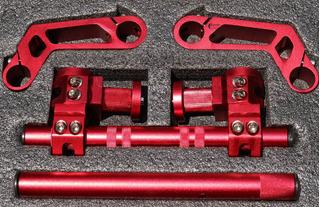 Manubrio Deportivo Universal Racing Moto Aluminio Fz16 Bws
