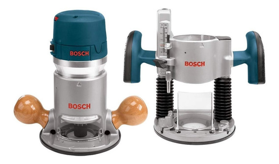 Super Combo Router Bosch Base Fija + Sumergible Industrial