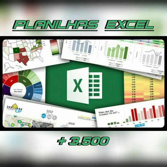 Dvd: Mega Pacote De Planilhas Excel + De 3.500 Modelos