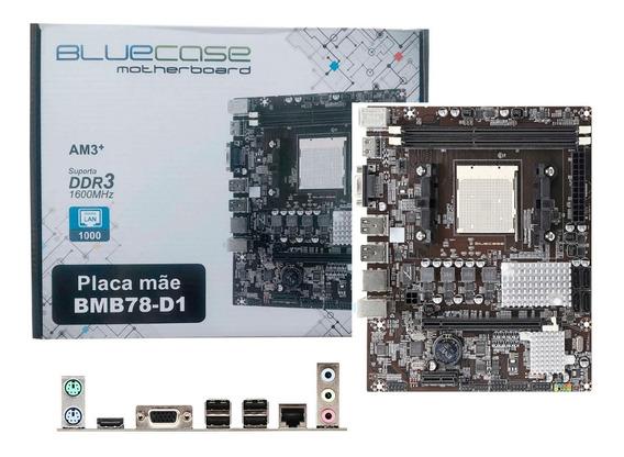 Placa Mãe Bluecase Socket Am3+ Ddr3 Phenom Fx 95w Gigabit