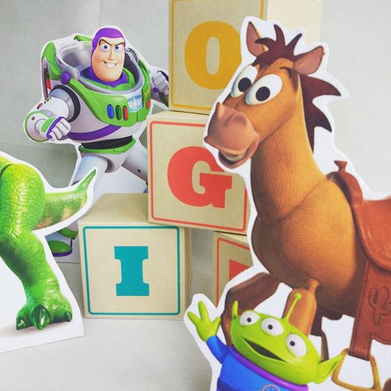 Cubos Toy Story Con Nombre De Papel Para Deco Cumples