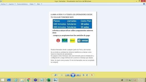 Imagen 1 de 1 de Llamada A Claro,movistar,entel Y Bitel Con Wifi Satelital In