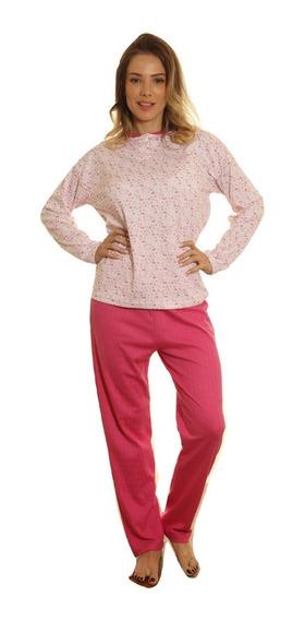 Pijama Dama Talle Especial 56 Al 60 Puro Algodon Invierno