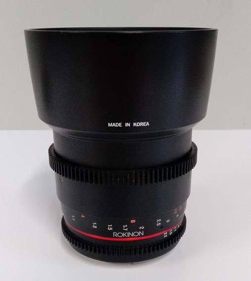 Lente Rokinon Cine 85mm T1.5 Para Canon