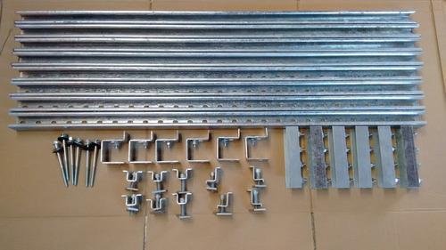 Kit Suporte P/ Instalação De 4 Painéis Solares Telha Amianto