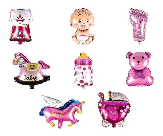 50 Globos Metalicos Baby Shower 14 Niño Niña Decorar N59