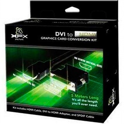 Kit Adaptador Upgrade Dvi Hdmi 5m Mk-hdmiup1k Xfx