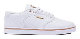 Tênis Hocks Montreal Branco White Gold Original Promoção