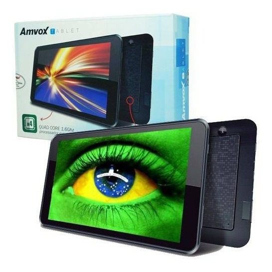 Tablet Amvox Tela 7 8gb Quad Core Android 4.4 Wifi 3g 1.3mp
