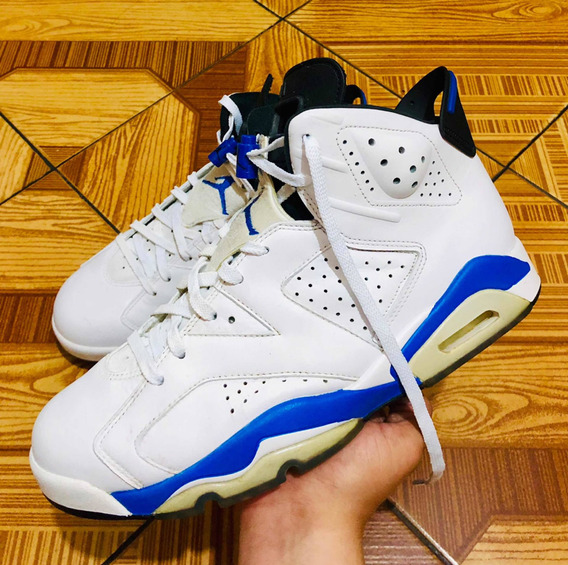 Jordan Retro 6 Sport Blues De Piel #8 Chulada