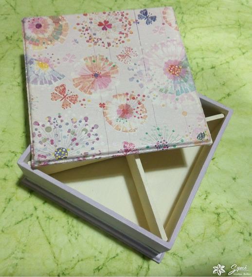 Caja Decoupage 12x12 Flores