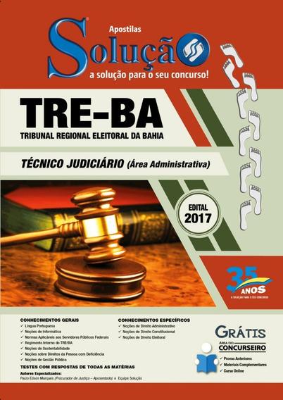 Apostila Tre Bahia Técnico Judiciário Área Adm - Solucao